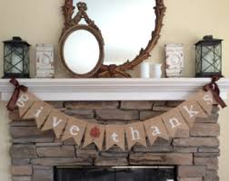 give thanks fall burlap banner fall banner fall decor fall