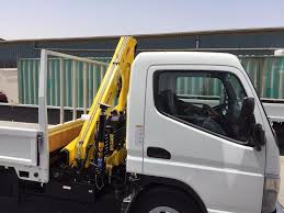 mitsubishi dubai mitsubishi canter s cab pickup with crane for rent dubai