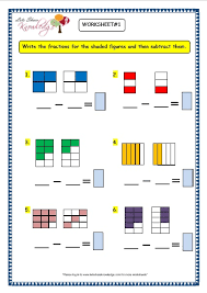 grade 3 maths worksheets 7 7 subtracting fractions lets share