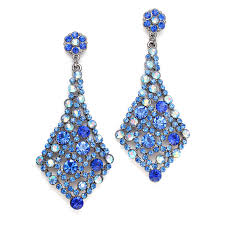 earrings for prom royal blue wholesale bridesmaids or prom earrings