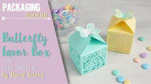 butterfly favor boxes butterfly favor box using sizzix thinlits die by david tutera