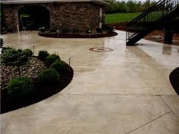 Concrete For Backyard by Remarkable Colored Concrete Patios Design U2013 How To Pour A Concrete