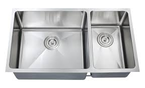 16 Gauge Kitchen Sink 1 1 2 double bowl kitchen sink 16 gauge combo chef series