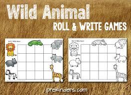 printable animal activities safari theme prekinders