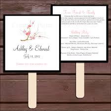 wedding program fans kit cherry blossoms program fans kit printing included wedding