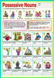 english teaching worksheets possessive nouns