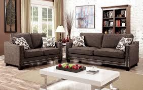 chenille fabric sofa nailhead trim