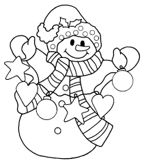 snowman coloring pages with snowflakes falling coloringstar