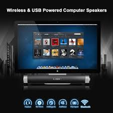 elegiant bluetooth wireless u0026 usb powered computer speakers 2 in