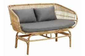 assise canapé canapé en rotin avec assise grise home