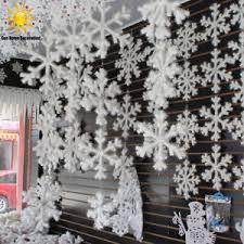 snowflake ornaments 12pcs new classic white snowflake ornaments christmas