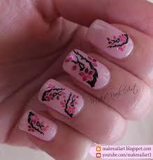 make nail art spring blossoms water decals nail art design tutorial