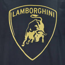 lamborghini logo lamborghini logo in gold on a black t shirt shirt warehouse