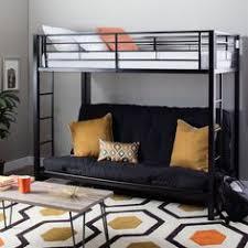 Black Futon Bunk Bed Elite Products Mali Flex Multi Positional Twin Futon Coal Pewter