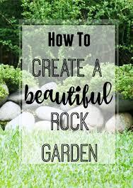 a beautiful rock garden