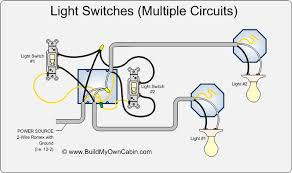 wiring multiple switches to multiple lights diagram cabin how
