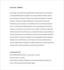 Sample Resume Of Network Administrator by Database Administrator Resume Template 15 Free Samples