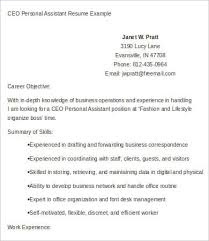 personal assistant resume 4 free word pdf documents download