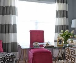 marvelous horizontal striped curtains to decorate your furniture
