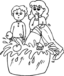 bobbing for apples coloring page wecoloringpage