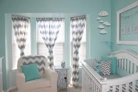 Chevron Nursery Curtains Baby Nursery Decor Aqua And Gray Chevron Baby Nursery Wonderful