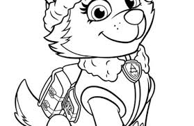 paw patrol coloring pages everest colorings