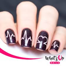 whats up nails heartbeat stencils whats up nails