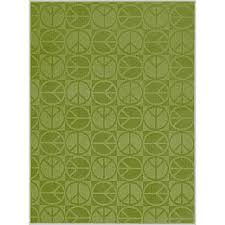 Bright Green Area Rugs Garland Rug Large Peace Lime 5 Ft X 7 Ft Area Rug Cl 17 Ra 0057