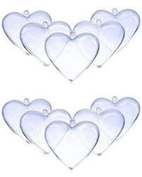 clear plastic ornaments amazing deal on doyolla 80mm clear plastic acrylic heart shape