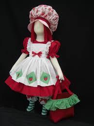 Strawberry Baby Halloween Costume Vintage Style Strawberry Shortcake Costume 6 Pc Costume