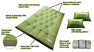 self inflating mattress u0026 pillow double mat2 self inflating