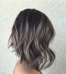 shag haircut brown hair with lavender grey streaks 30 balayage hair color ideas with blonde brown and caramel