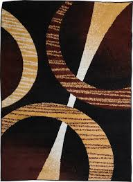 Brown Geometric Rug Modern Contemporary Geometric Area Rug Runner Accent Mat Carpet Ebay