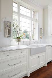 white marble kitchen not those sconces farm apron sink or