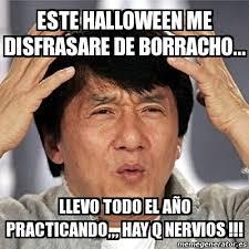 Memes De Halloween - meme jackie chan este halloween me disfrasare de borracho llevo