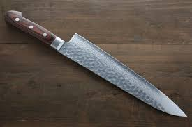 seisuke 17 layer damascus hammered japanese chef kitchen knife