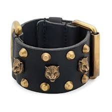 bracelet cuff leather images Leather cuff bracelet gucci fashion jewelry for men 477034j75438030 jpg