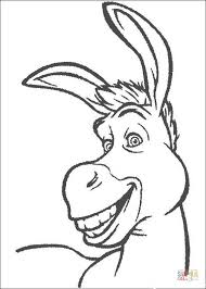 smiling donkey coloring free printable coloring pages