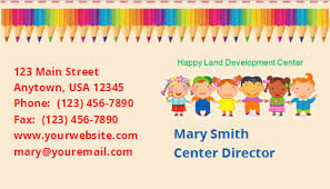 childcare business cards child care business cards template 11 child care owner