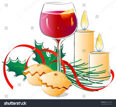 wine clipart mulled wine mince pies stock vector 56937553 shutterstock