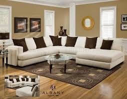 White Leather Couch Living Room Furniture Comfortable Sectional Couches For Elegant Living Room