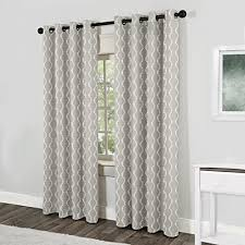exclusive home baroque grommet top curtain panel pair 96