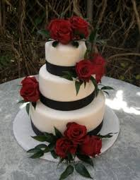 one stop wedding red black and white wedding cakes