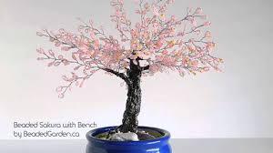 beaded cherry blossom bonsai with bench youtube