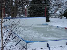 Backyard Rink Ideas Backyard Rink Goals Backyard Rink For Enjoying The