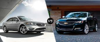 future ford taurus ford taurus vs 2016 chevy impala