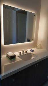 afina illume led backlit rectangular bathroom mirror of with back