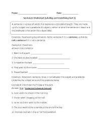 ideas of complete sentence worksheets with format sample