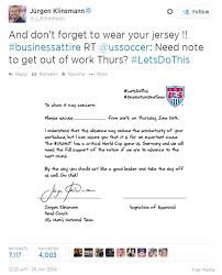 jurgen klinsmann gives usa supporters permission to take day off