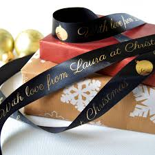 printed ribbon christmas 25mm personalised printed ribbon by altered chic